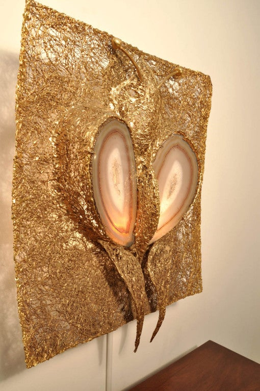 Mid-Century Modern Jacques Duval Brasseur Illuminated Wall Sconce For Sale