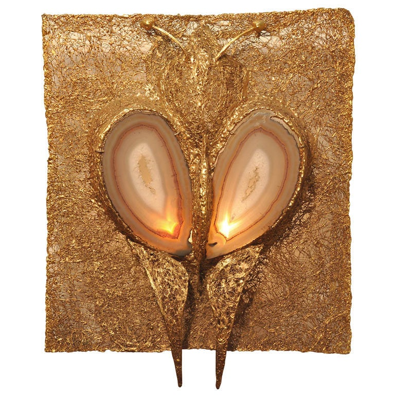 Jacques Duval Brasseur Illuminated Wall Sconce