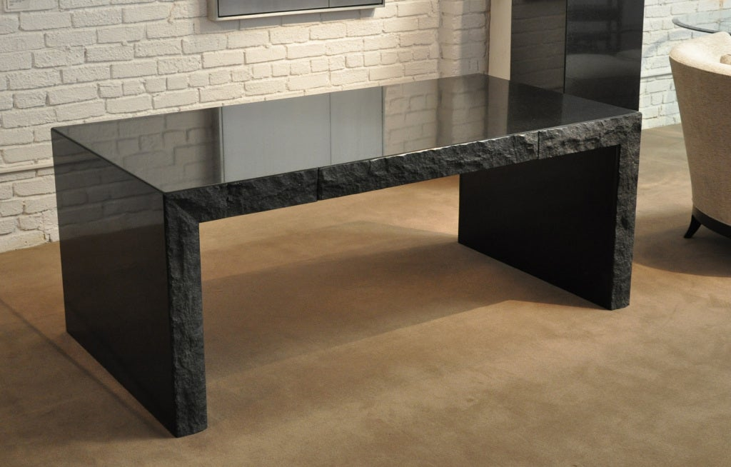 Michael Taylor 1927 1986 Custom Black Granite Desk For