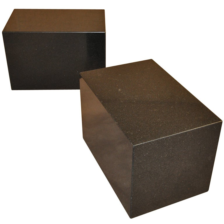 Side Tables Granite Cubes Michael Taylor