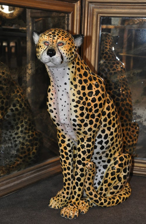 Italian - Glazed Ceramic Cheetah 1