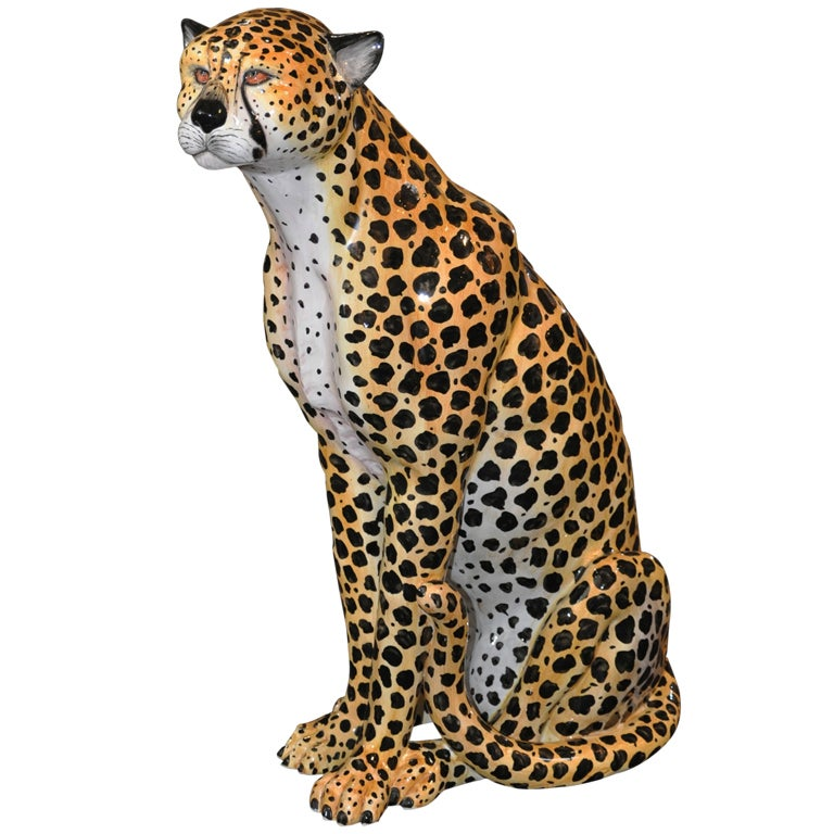 Italian - Glazed Ceramic Cheetah
