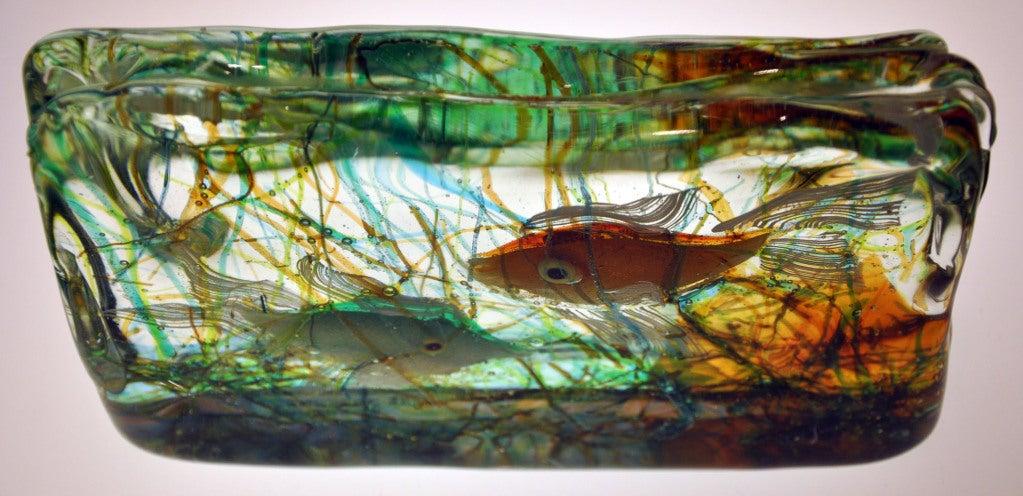 murano glass aquarium view alfredo barbini for cenedese at 1stdibs. Black Bedroom Furniture Sets. Home Design Ideas