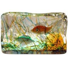 "Murano Glass ""Aquarium View"" - Alfredo Barbini for Cenedese"