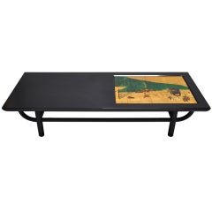 Custom Lacquered Wood Coffee Table - Art Linkletter Estate