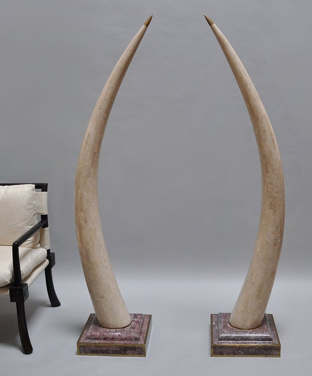 American Maitland Smith Decorative Faux Tusks For Sale