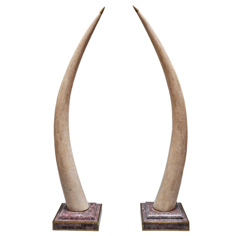 Maitland Smith Decorative Faux Tusks For Sale