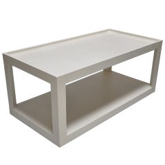Karl Springer - Leather Clad Coffee Table