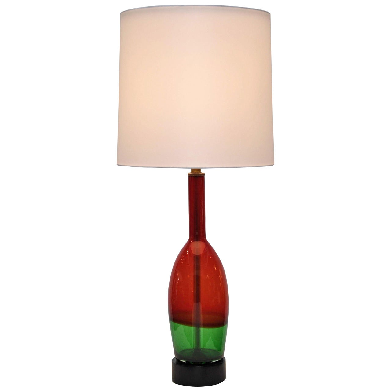 Murano Glass, Italian Table Lamp, 1950s