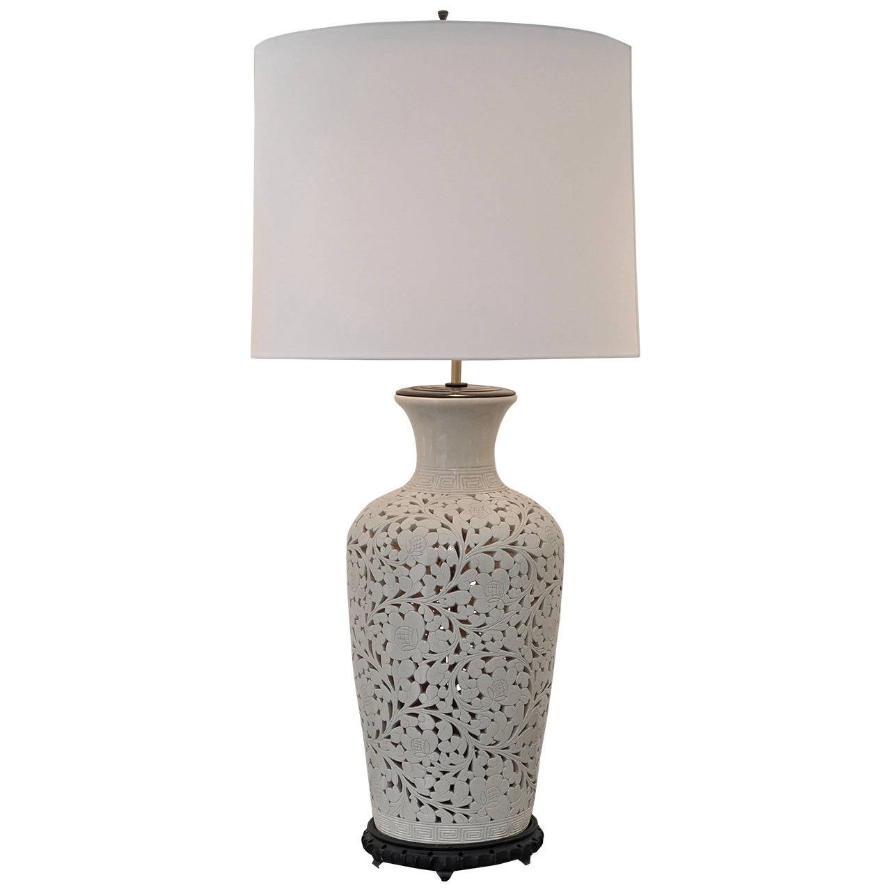 Ceramic Lamp with Interior Light For Sale at 1stdibs