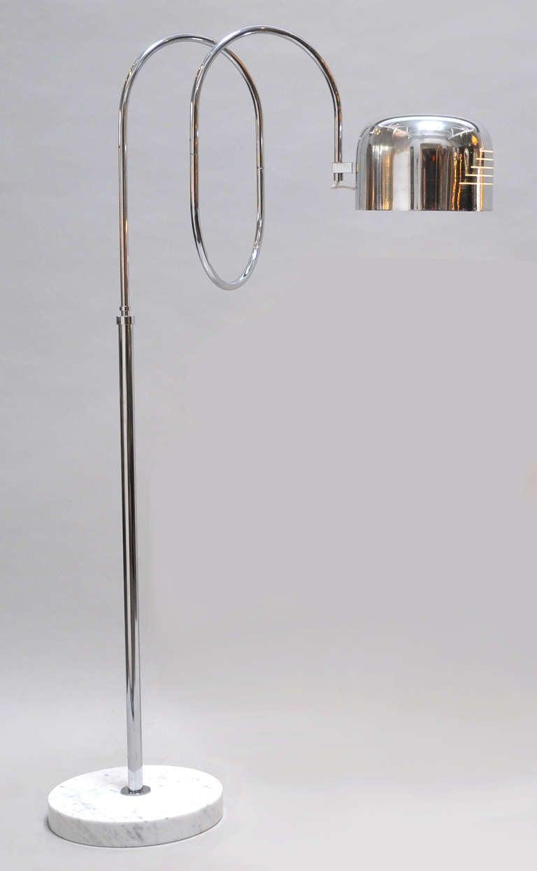 1970s Italian Adjustable Floor Lamp At 1stdibs