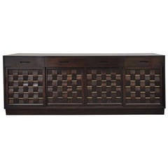 Edward Wormley for Dunbar Large Walnut Sideboard Model 5666