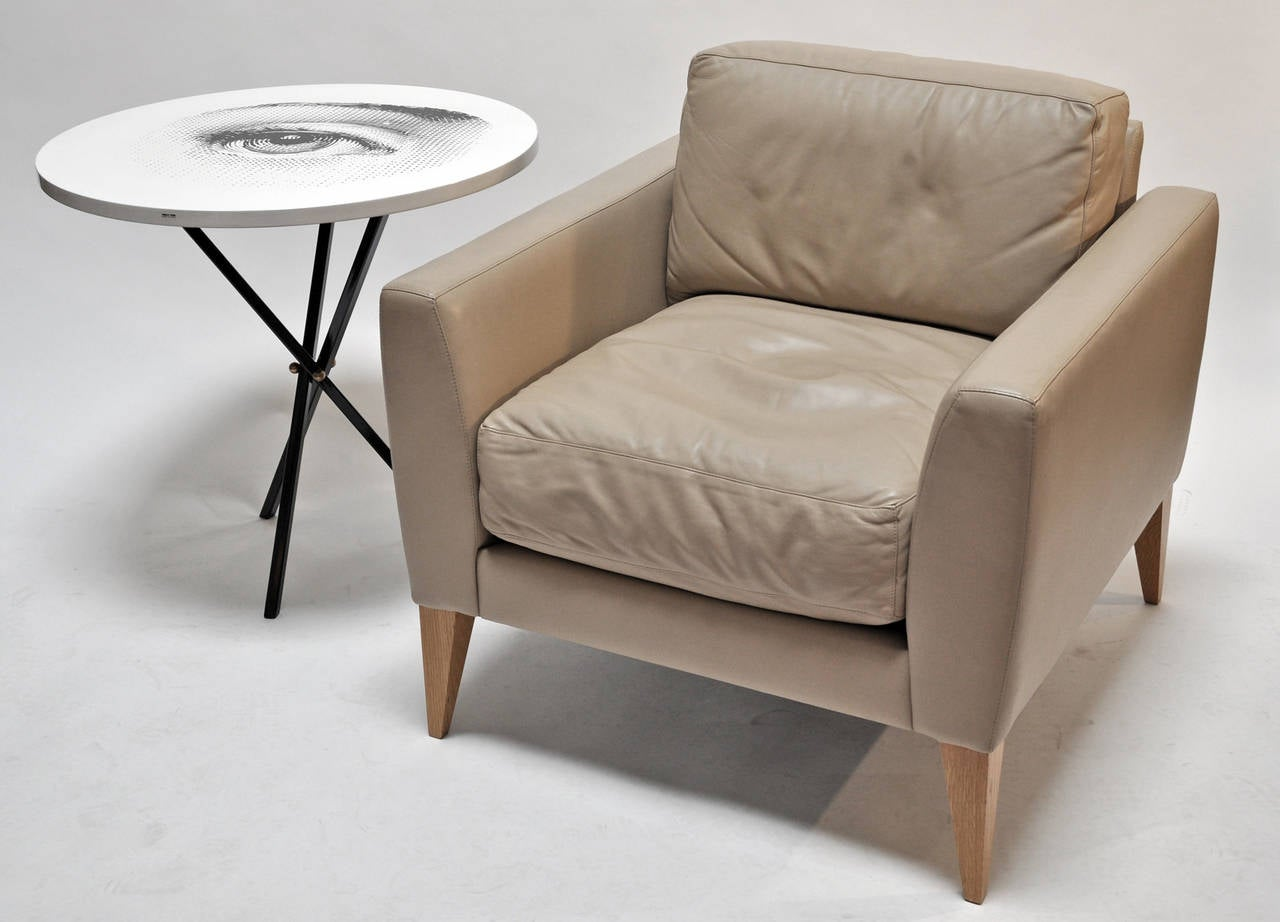 Dakota Jackson Leather Armchair At 1stdibs