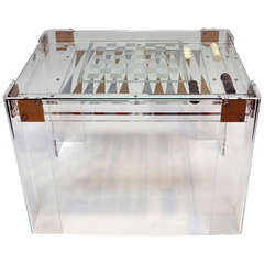 Chess, Checkers, or Backgammon - Lucite Game Table