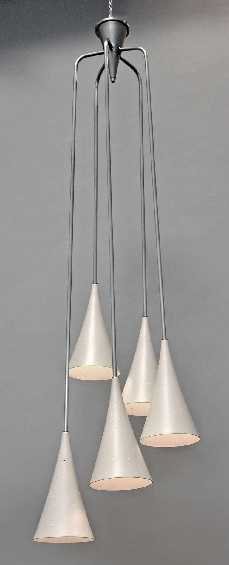 Italian mid century modern hanging lamp at 1stdibs for Mid century modern hanging lamp