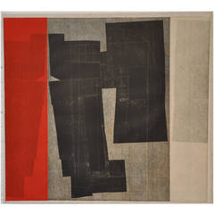 Louise Nevelson Limited Edition Lithograph on Handmade Paper