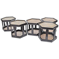 Octagonal Occasional Tables (priced individually) by John Keal for Brown Saltman