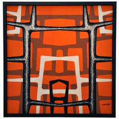Angelo Testa (American 1918-1984) Framed Textile