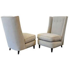 Paul Laszlo (1900-1993) Pair of 1940s Upholstered Chairs