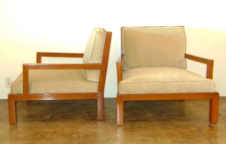 Michael Taylor Custom Mahogany Arm Chairs At 1stdibs