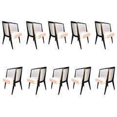 Harold Schwartz Dining Chairs, Set of 8