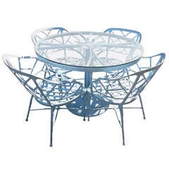 Baby Blue Outdoor Dining Suite