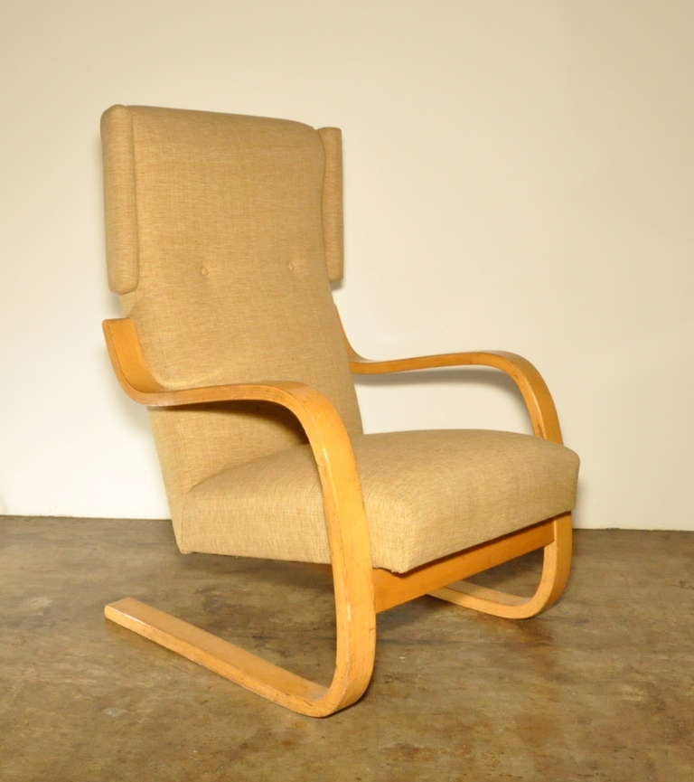 Alvar aalto high back lounge chair at 1stdibs for Aalto chaise lounge