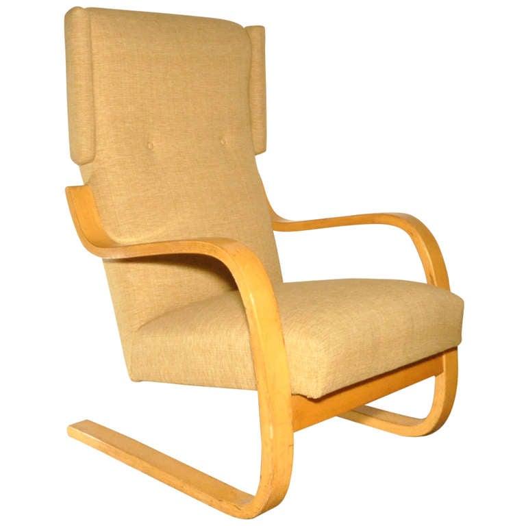 Alvar Aalto High Back Lounge Chair At 1stdibs