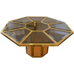 Romeo Rega Brass and Raffia Centre Table