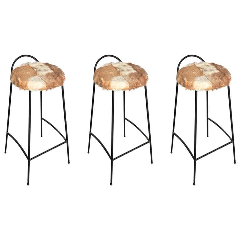 Muriel Coleman Barstools Set Of Three At 1stdibs
