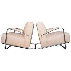 Art Deco Chrome Armchairs