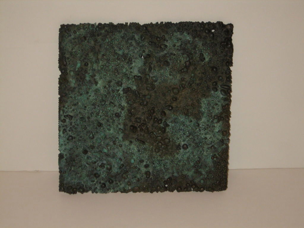 A nice spill cast panel with great patina. Provenance accompanies.