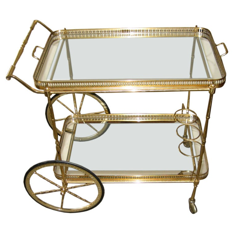 Fanciful Brass Barcart