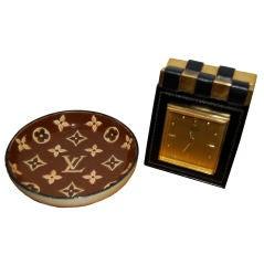 Hermès Clock and Vuitton Bowl