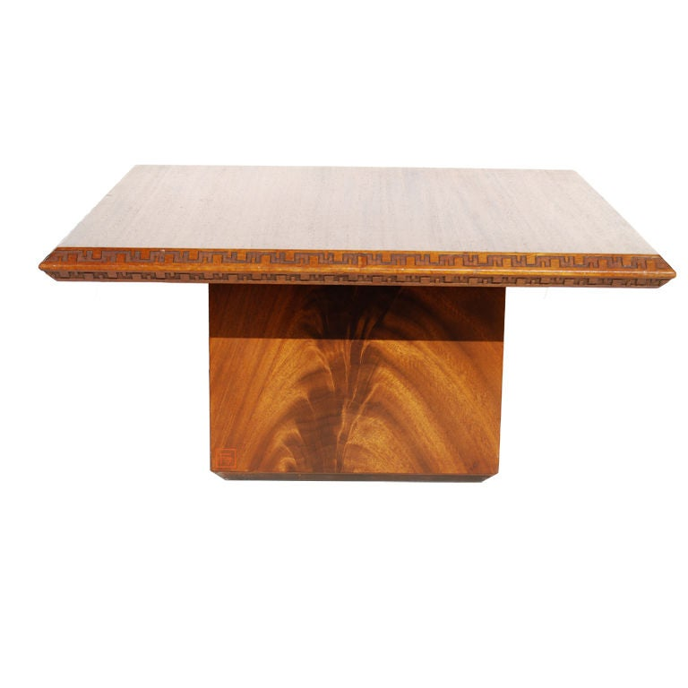 Frank Lloyd Wright Heritage Henredon Square Table At 1stdibs