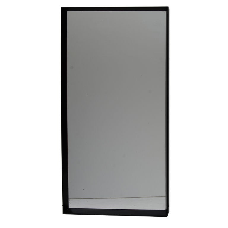 Paul frankl thin edge rectangular wall mirror at 1stdibs for Skinny wall mirror