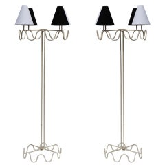 "Pair of Jean Royère ""Ondulation"" Floor Lamps"
