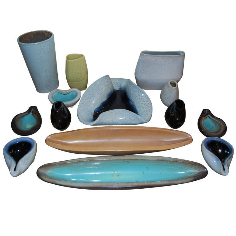 Russell Wright For Bauer Pottery Collection At 1stdibs