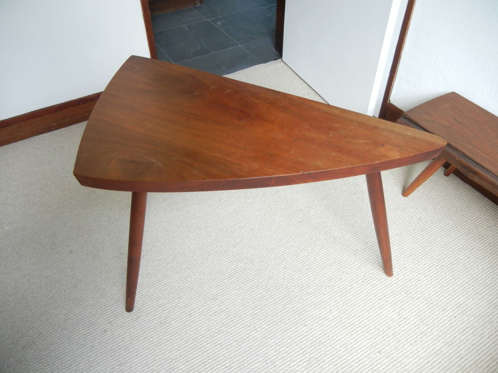 George Nakashima Triangular Cherry Occasional Table For Sale At 1stdibs