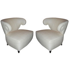 "Paul Laszlo ""Scroll"" Armchairs"