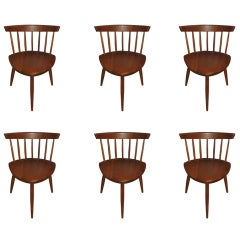 "George Nakashima ""Mira"" Chairs-Set of 6"