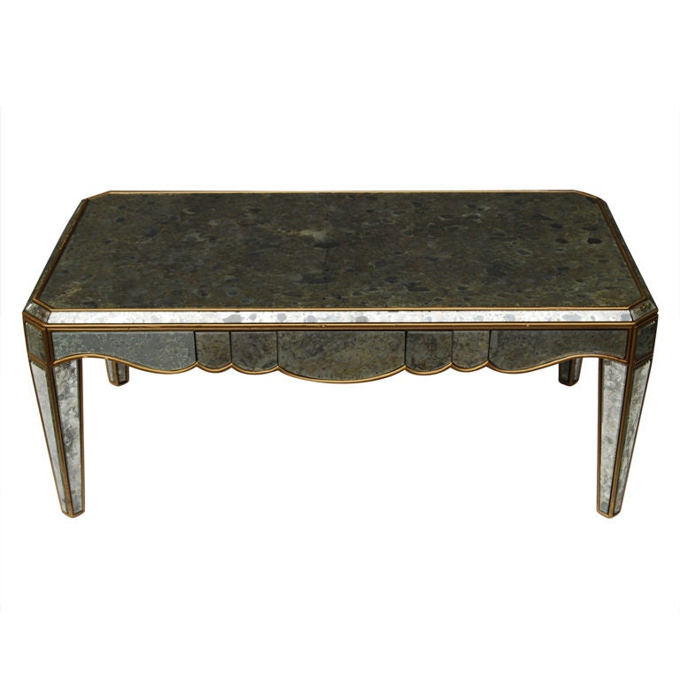 Marchand Oxidized Antique Mirror Cocktail Table At 1stdibs