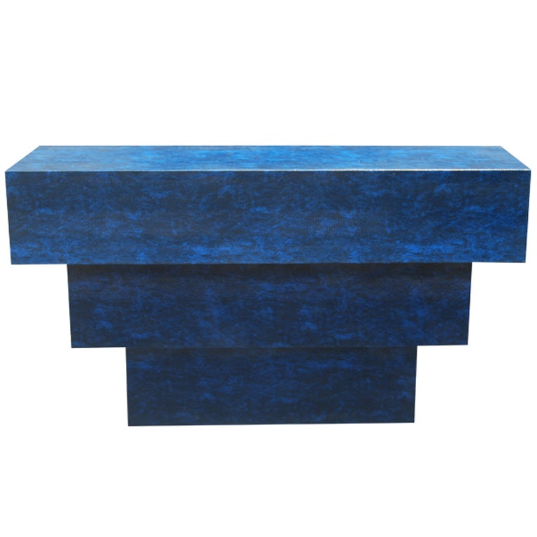 Steven Chase Custom Quot Mayan Quot Console In Blue Lizard At 1stdibs