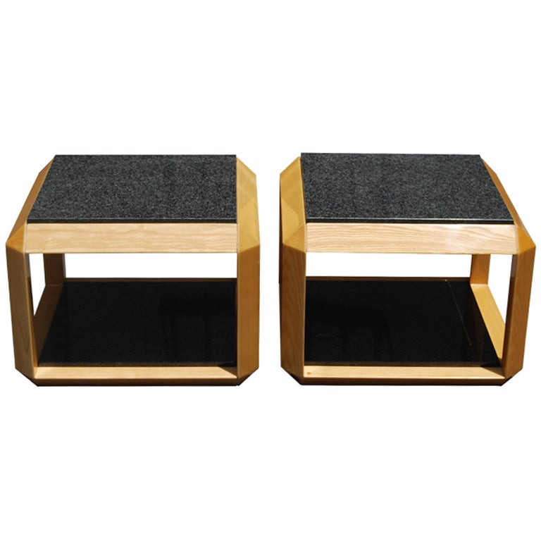 Saporiti Side Tables By Giovanni Offredi At 1stdibs