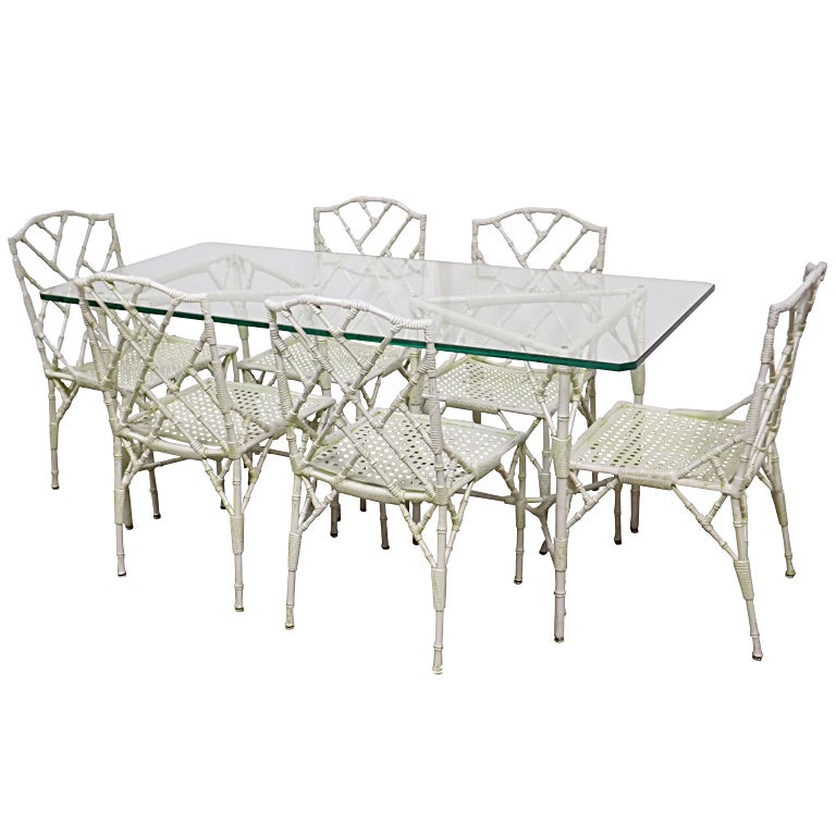 Hollywood Regency Style Faux Bamboo Patio Set At 1stdibs