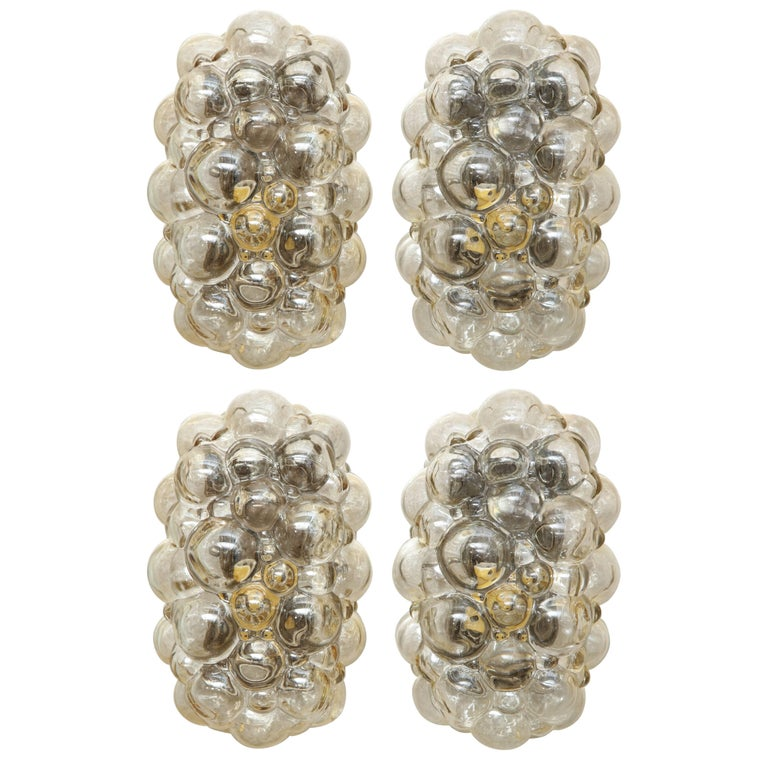 Helena Tynell/Limburg Bubble Glass Sconces, Two Pairs For Sale