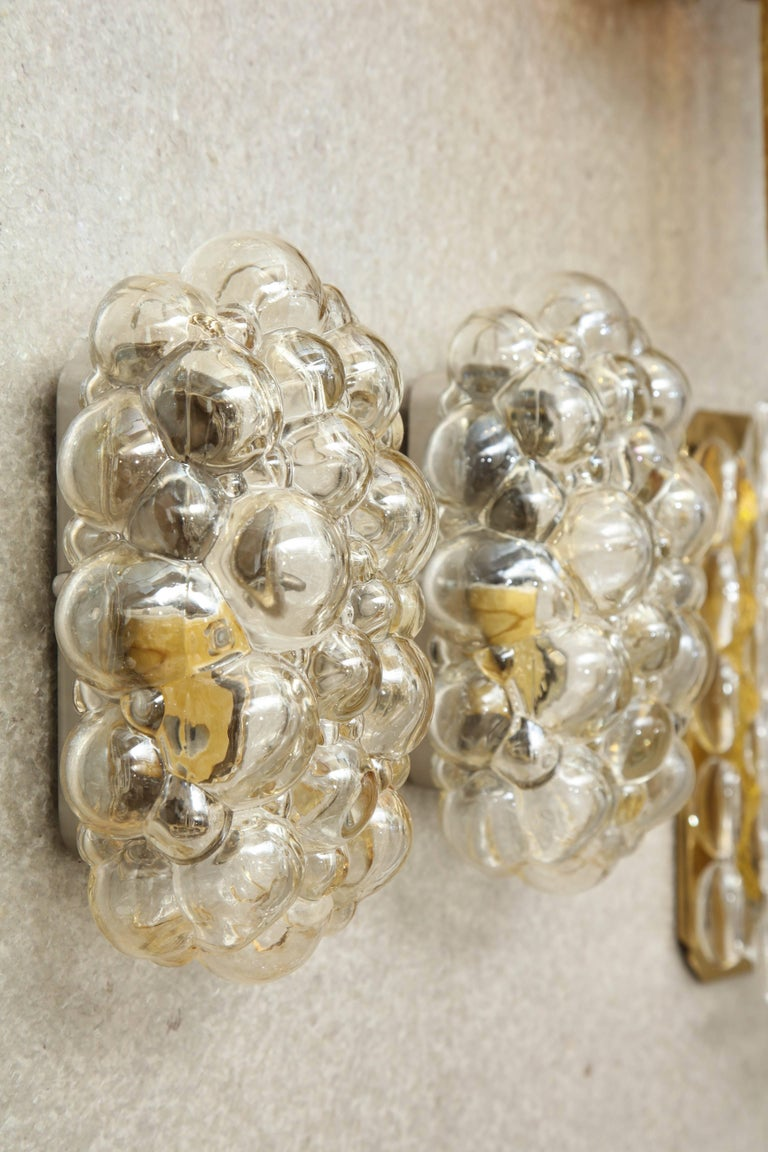 German Helena Tynell/Limburg Bubble Glass Sconces, Two Pairs For Sale