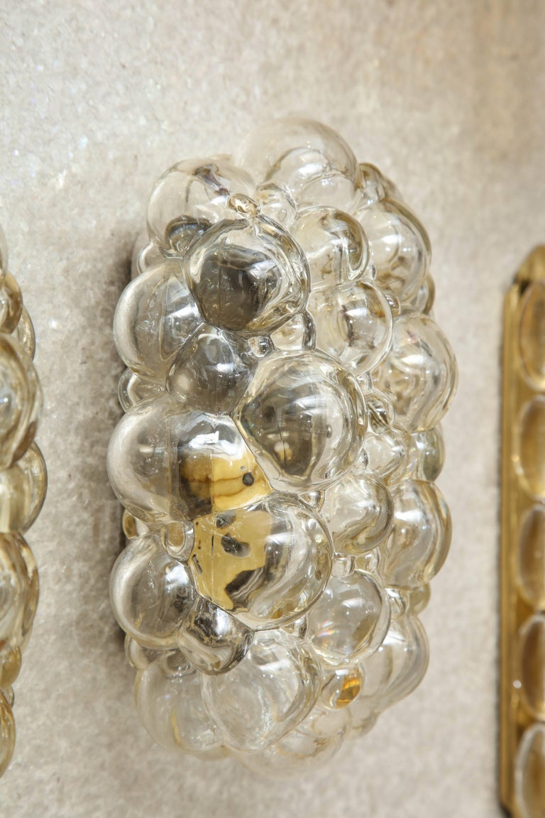 Helena Tynell/Limburg Bubble Glass Sconces, Two Pairs 5