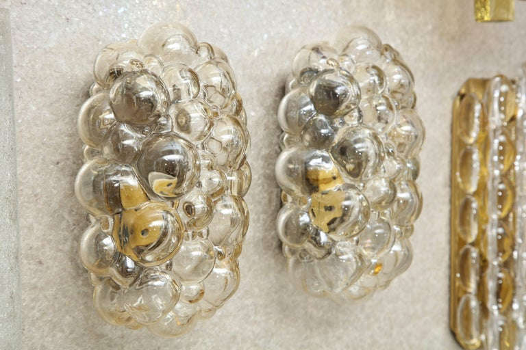 20th Century Helena Tynell/Limburg Bubble Glass Sconces, Two Pairs For Sale