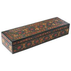 Intricately Decorated Kashmiri Rectangular Lacquered Box